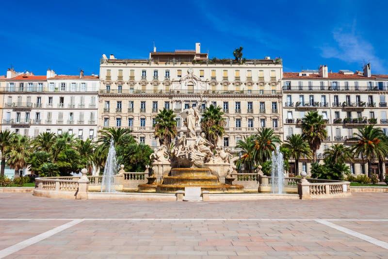 Cuadrado de la libertad en Toulon, Francia foto de archivo libre de regalías