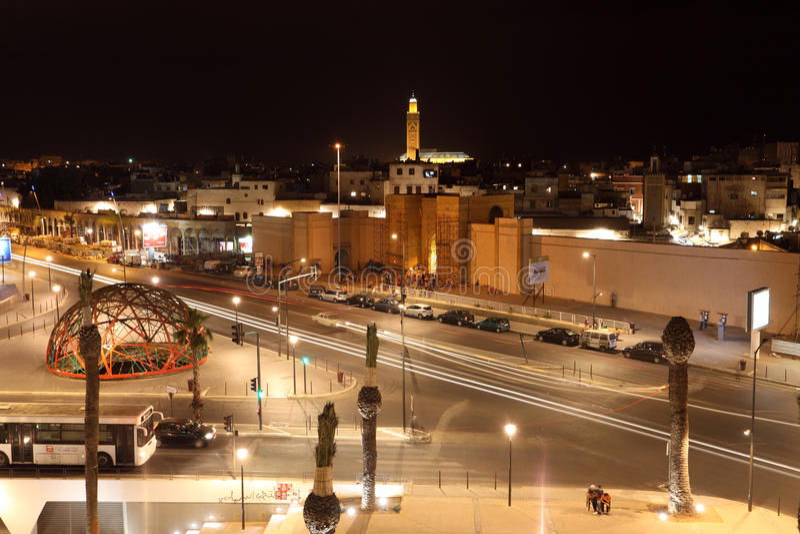 Cuadrado de la nación unida en Casablanca foto de archivo