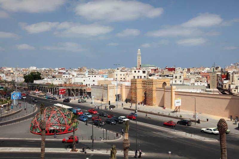 Cuadrado de la nación unida en Casablanca fotos de archivo libres de regalías