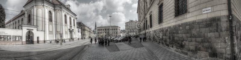 Cuadrado de la república en Olomouc foto de archivo