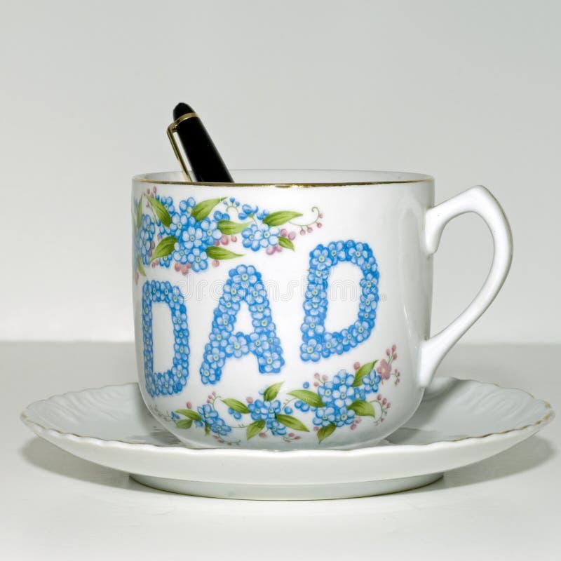 Cuadrado de la taza de té del día de padre fotos de archivo libres de regalías