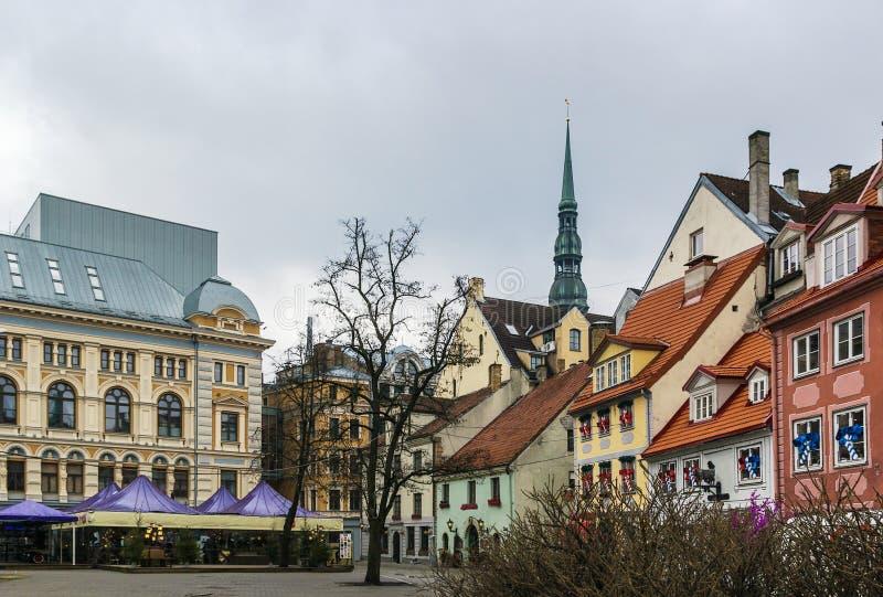 Cuadrado de Livu, Riga imagen de archivo