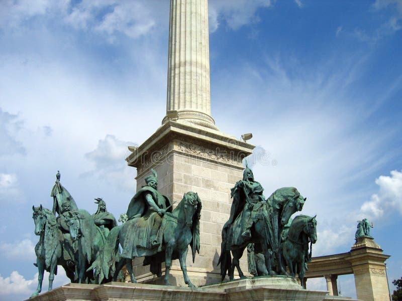 Cuadrado de los héroes - Budapest, Hungría foto de archivo libre de regalías