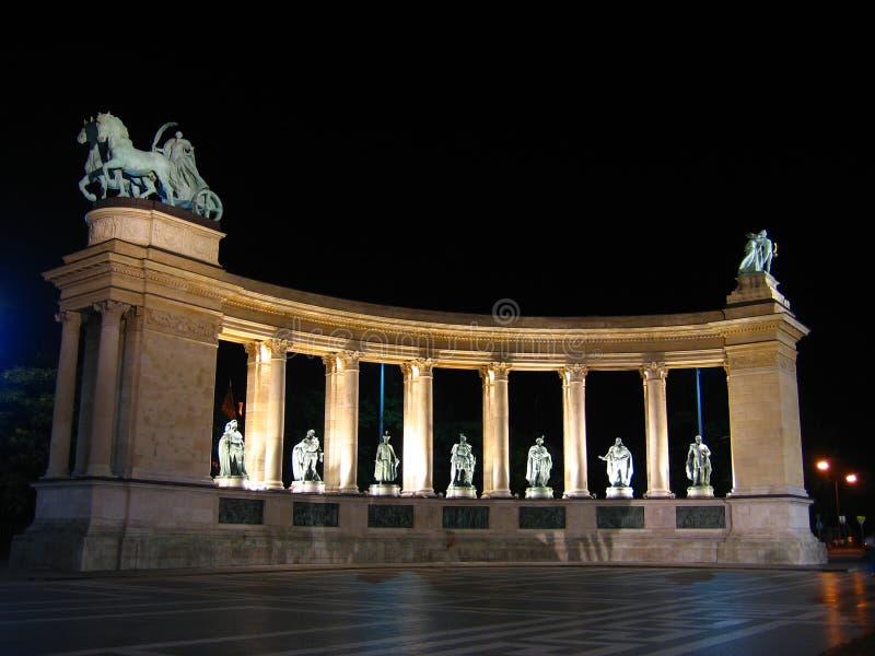 Cuadrado de los héroes - Budapest, Hungría fotografía de archivo libre de regalías