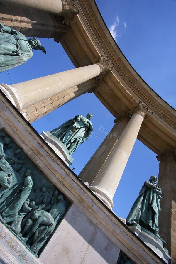 Cuadrado de los héroes, Budapest, Hungría foto de archivo