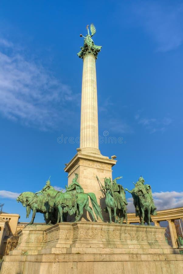 Cuadrado de los héroes, Budapest, Hungría imagen de archivo