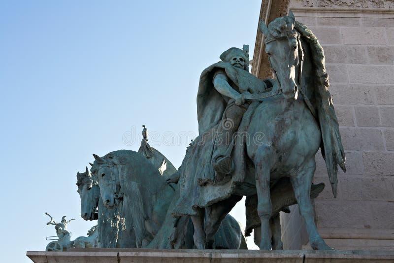 Cuadrado de los héroes en Budapest, fragmento. imagen de archivo libre de regalías