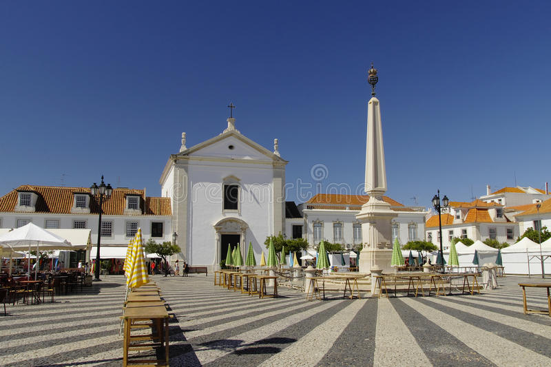 Cuadrado de Marques de Pombal en Vila Real de Santo Antonio imagen de archivo libre de regalías