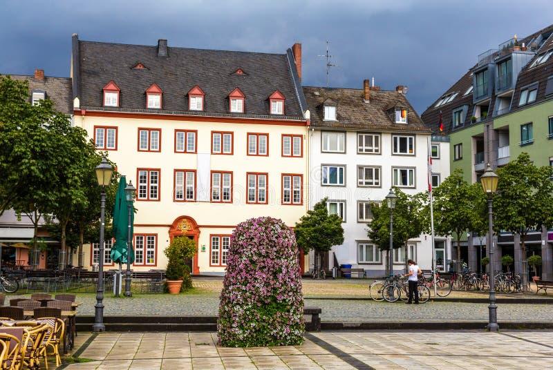 Cuadrado de Munzplatz en Coblenza fotos de archivo