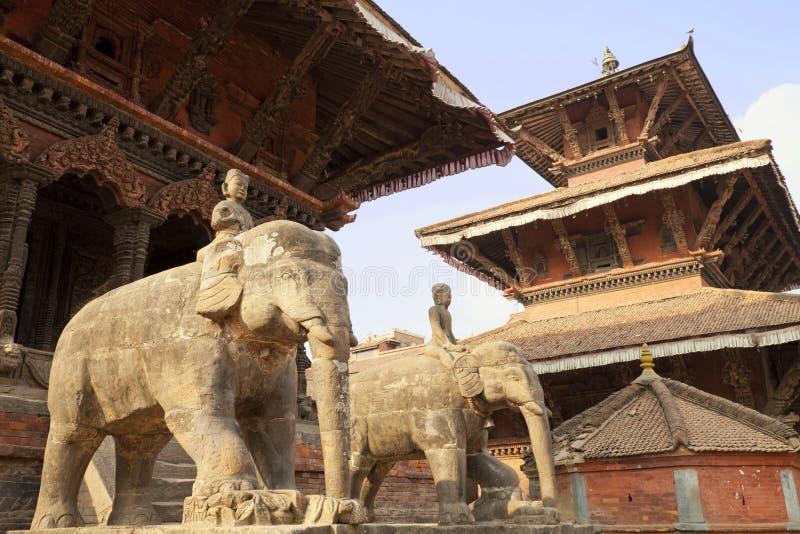 Cuadrado de Patan Durbar, Nepal foto de archivo libre de regalías