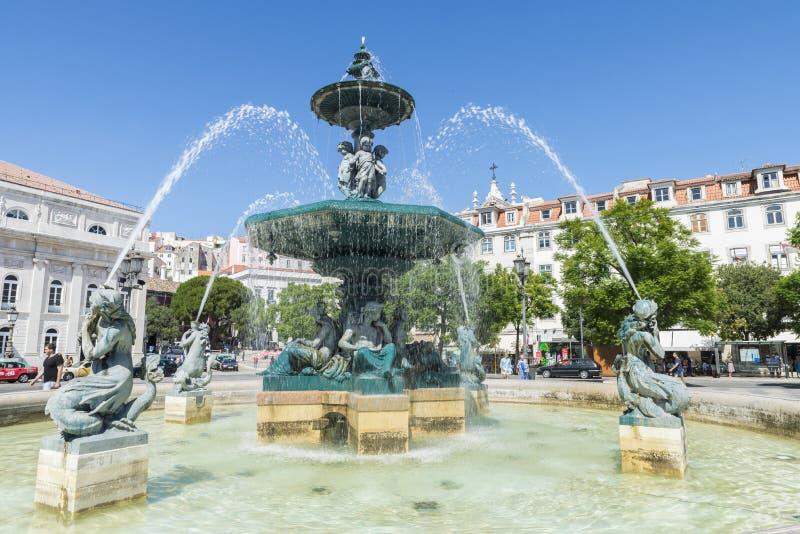 Download Cuadrado De Pedro IV, Lisboa Fotografía editorial - Imagen de día, foco: 44856052