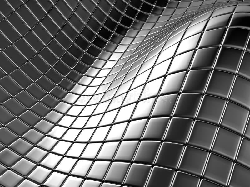 Cuadrado de plata de aluminio abstracto libre illustration