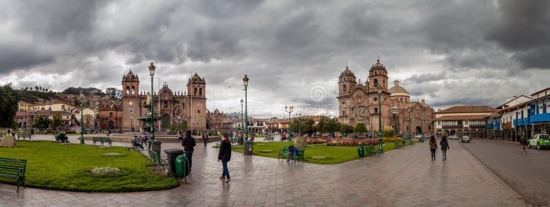 Cuadrado de Plaza de Armas en Cuzco, Perú foto de archivo