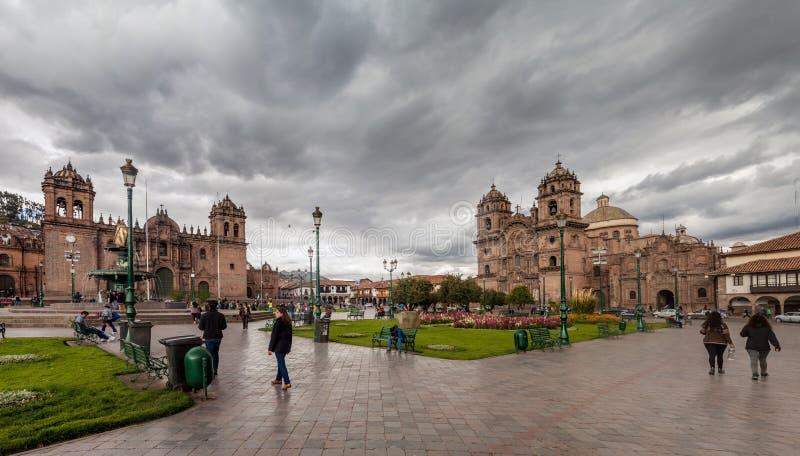 Cuadrado de Plaza de Armas en Cuzco, Perú foto de archivo libre de regalías