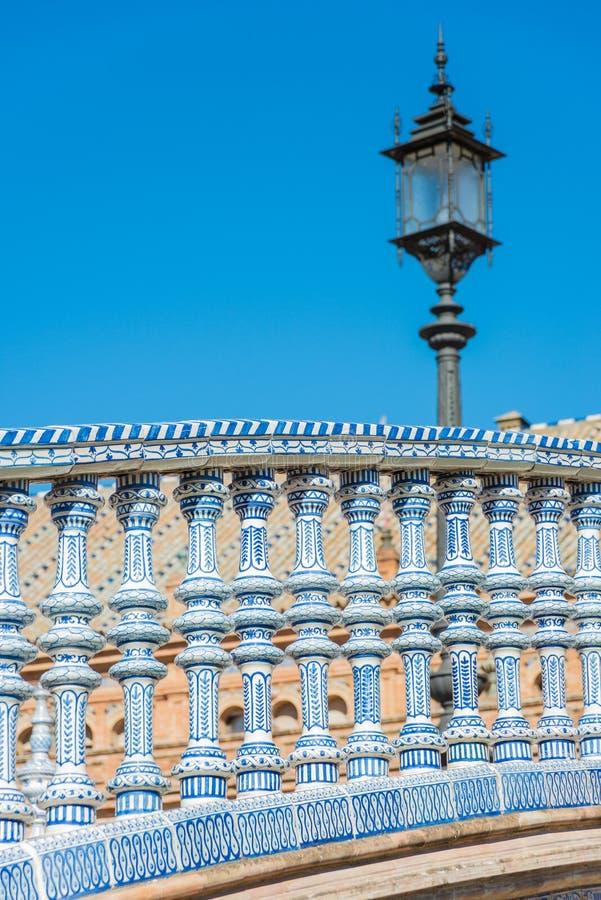 Cuadrado de Plaza de Espana en Sevilla, España imagen de archivo