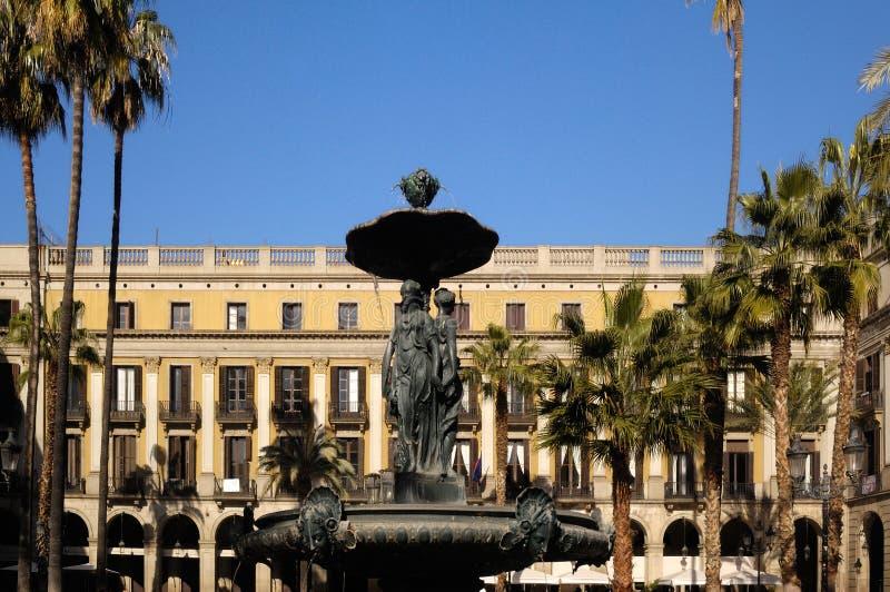 Cuadrado de Reial de Barcelona, Cataluña, foto de archivo libre de regalías