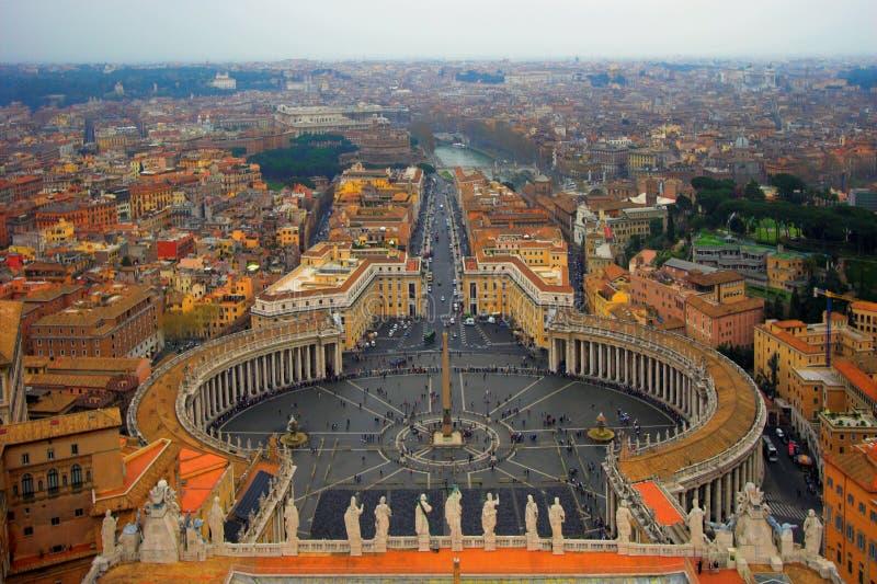 Cuadrado de San Pedro en Roma fotos de archivo