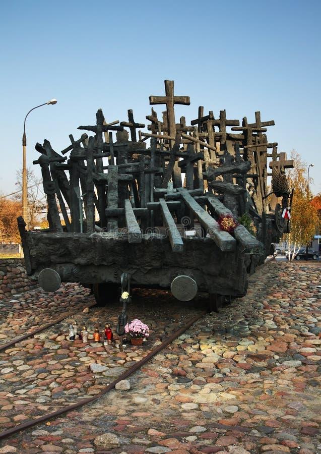 Cuadrado de Sybiraczki de la madre Monumento caido y asesinado en el este en Varsovia polonia fotos de archivo libres de regalías