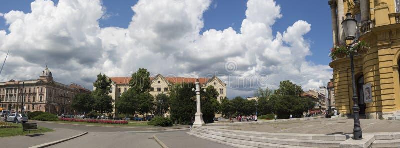 Cuadrado de Tito del mariscal en Zagreb, Vroatia foto de archivo