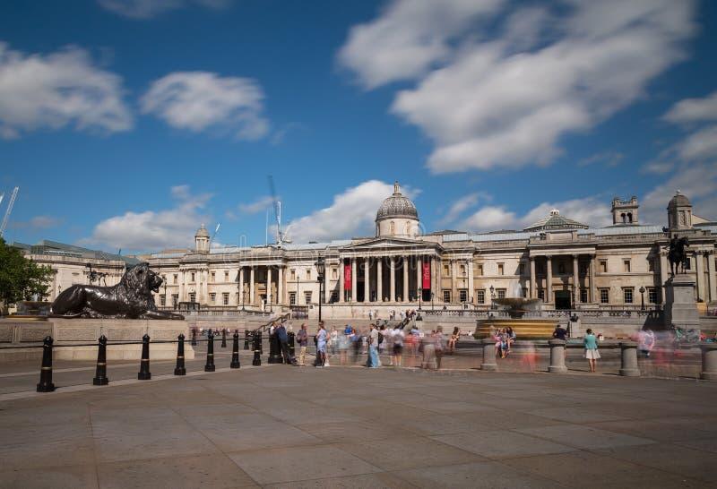 Cuadrado de Trafalgar en Londres fotografía de archivo