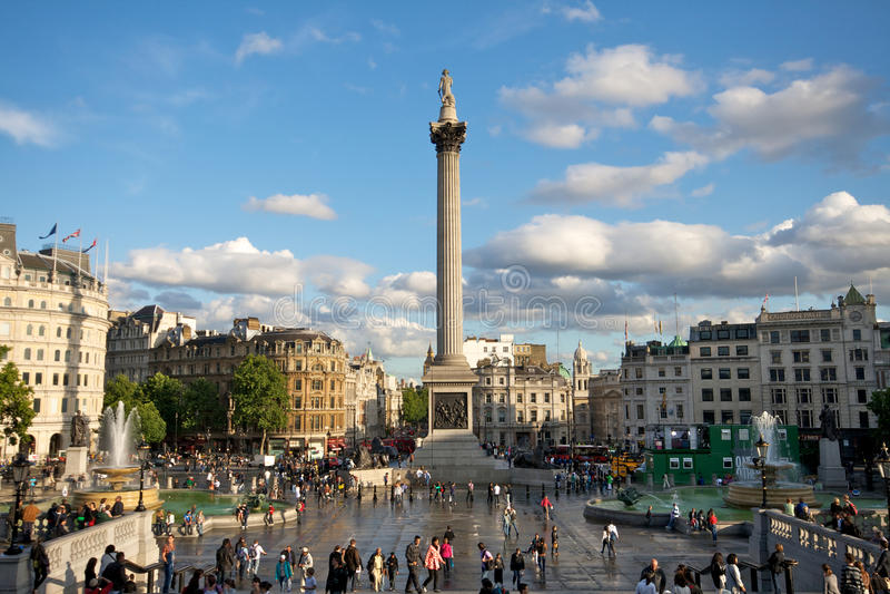 Cuadrado de Trafalgar, Londres fotografía de archivo libre de regalías