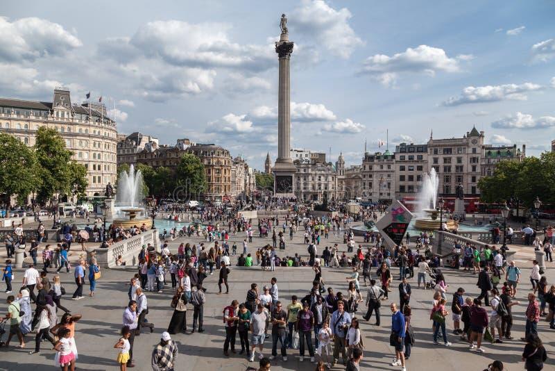 Cuadrado de Trafalgar Londres imagen de archivo