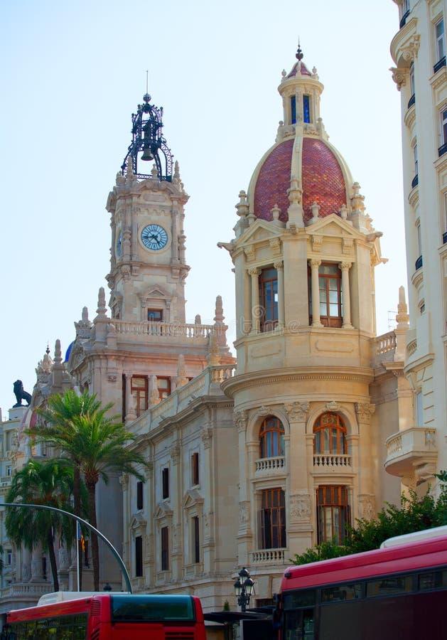 Cuadrado del ayuntamiento de la ciudad de Valencia Plaza del ayuntamiento fotografía de archivo