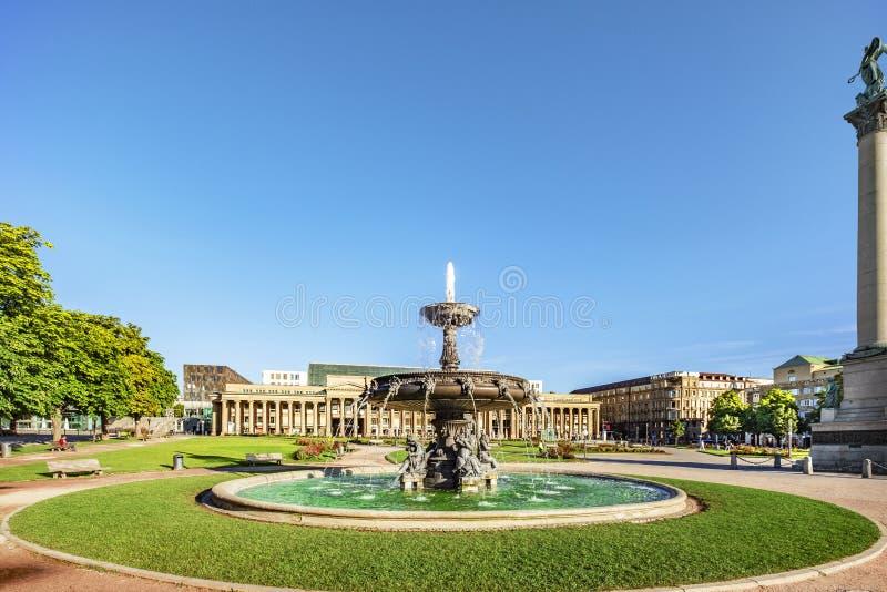 Cuadrado del castillo de Stuttgart imágenes de archivo libres de regalías