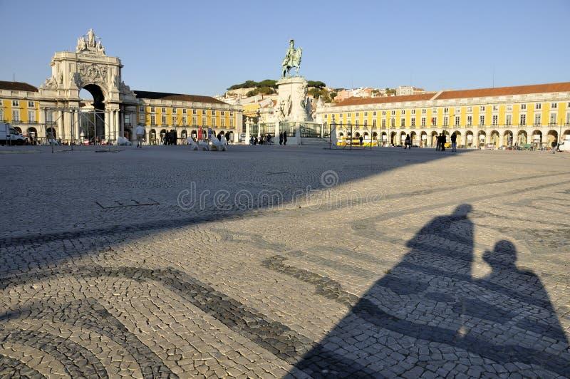 Cuadrado del comercio, Lisboa imagen de archivo