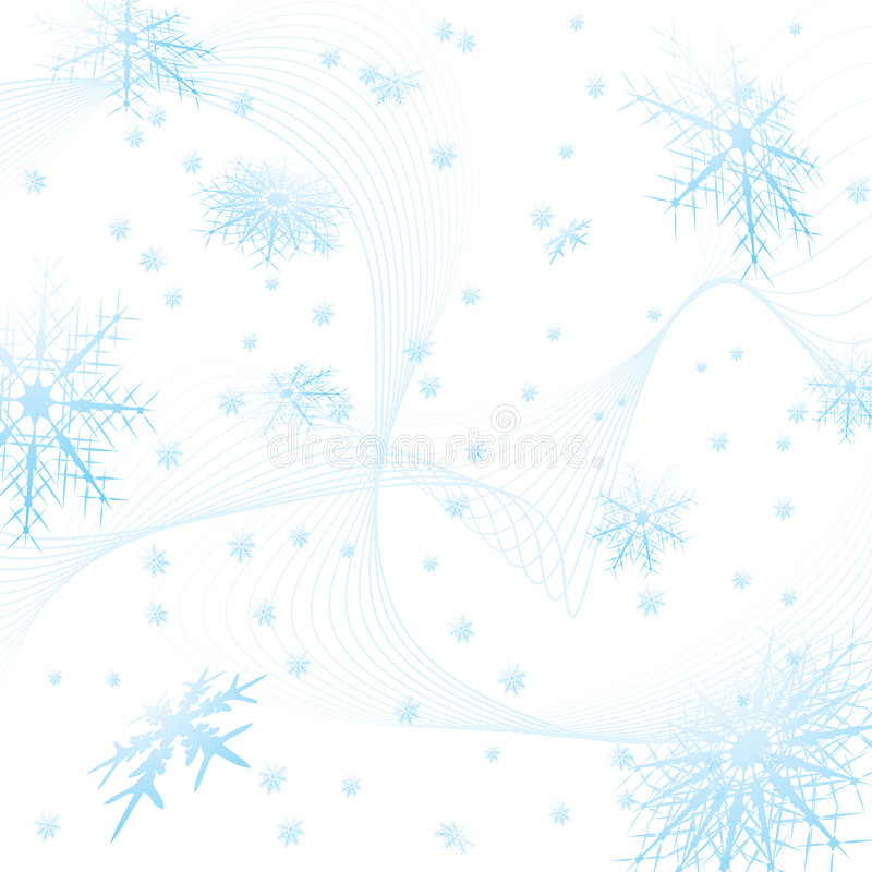 Cuadrado del copo de nieve libre illustration