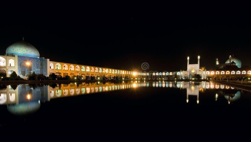 Cuadrado del imán en la noche foto de archivo