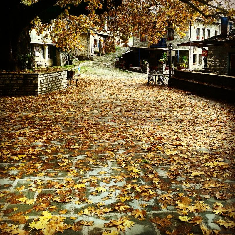 Cuadrado del otoño de Tsepelovo imágenes de archivo libres de regalías