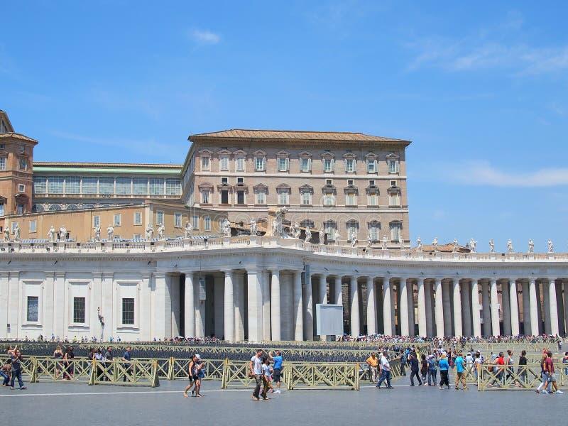 Cuadrado del ` s de San Pedro, Ciudad del Vaticano, Roma, Italia foto de archivo