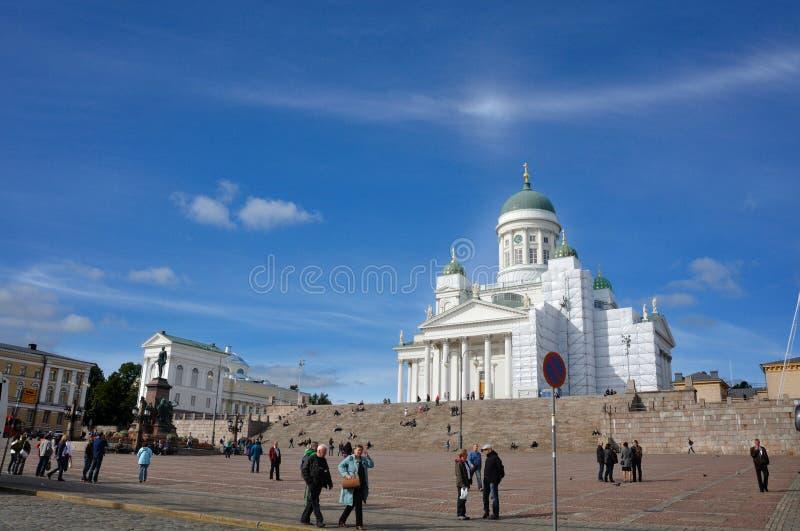 Cuadrado del senado de Helsinki fotos de archivo libres de regalías