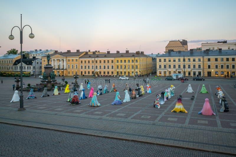 Cuadrado del senado, en Helsinki imagen de archivo