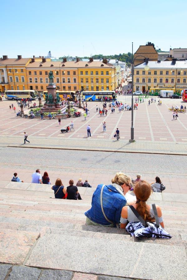 Cuadrado del senado en Helsinki fotos de archivo libres de regalías