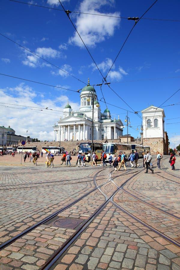 Cuadrado del senado en Helsinki foto de archivo