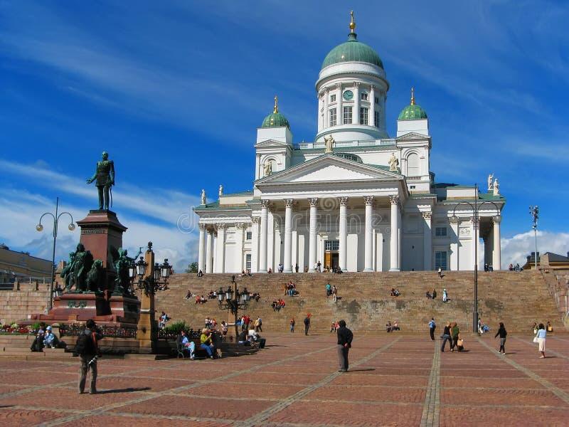 Cuadrado del senado, Helsinki, Finlandia imagenes de archivo