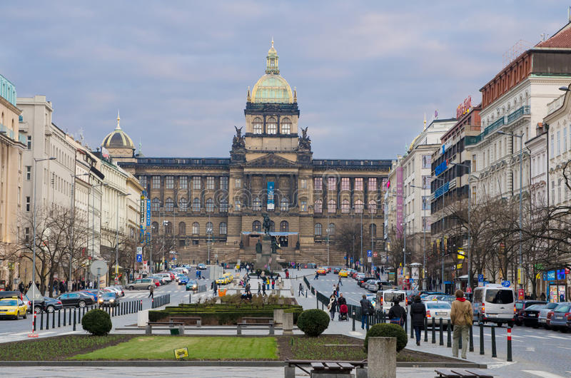 Cuadrado del St. Wenceslao, Praga fotos de archivo libres de regalías