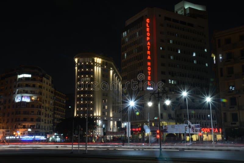 Cuadrado Egipto de Tahrir del hotel de Cleopatra fotografía de archivo libre de regalías