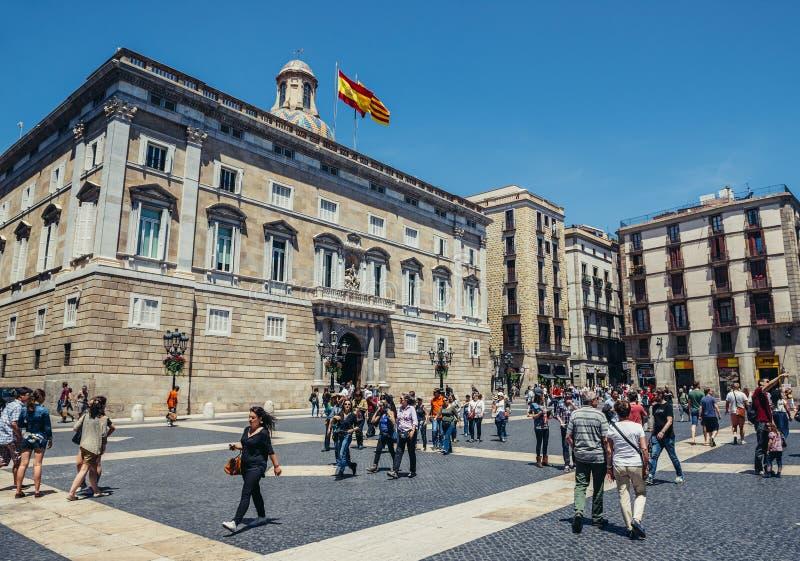 Cuadrado en Barcelona imágenes de archivo libres de regalías