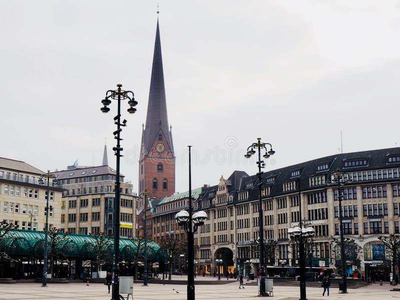 Cuadrado en Hamburgo fotografía de archivo libre de regalías