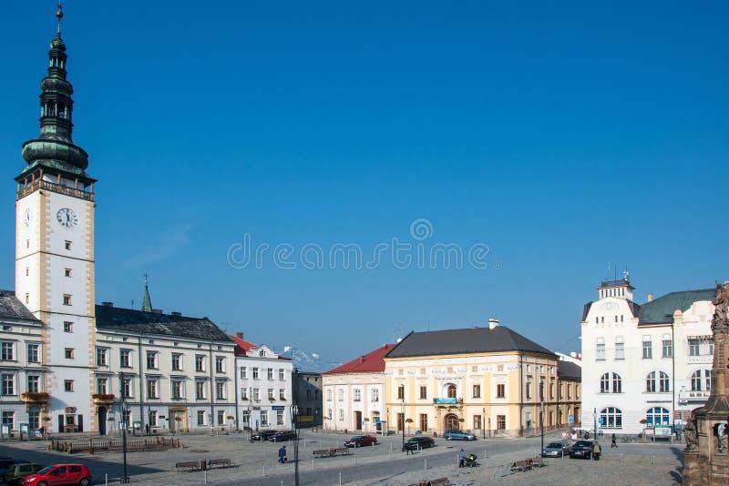 Cuadrado en Litovel, República Checa foto de archivo libre de regalías