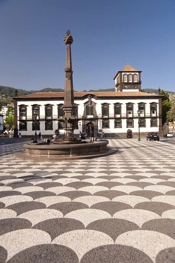 Cuadrado en Madeira imagen de archivo libre de regalías