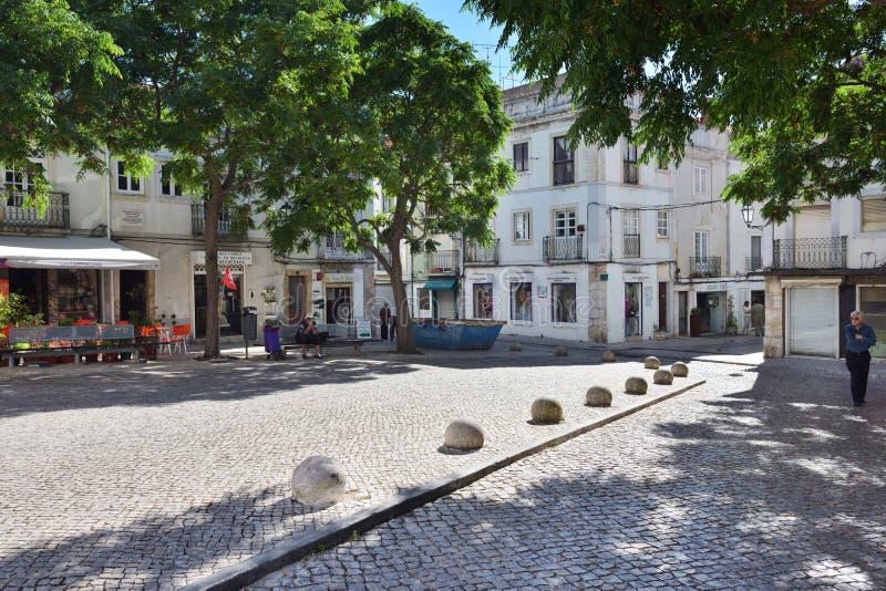 Cuadrado en Setúbal, Portugal foto de archivo libre de regalías