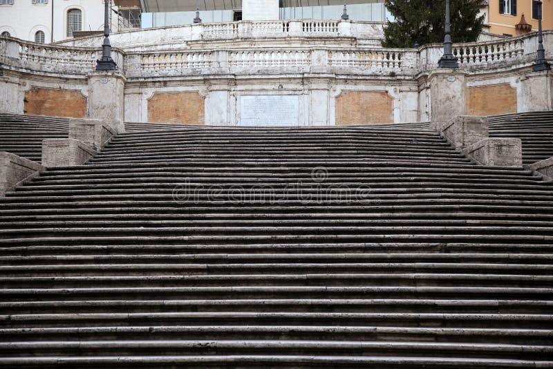 Cuadrado español con pasos españoles en Roma Italia fotos de archivo