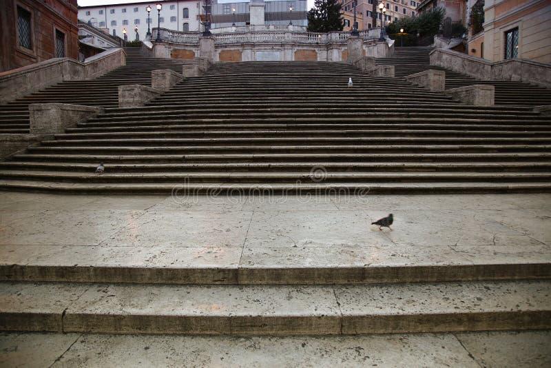 Cuadrado español con pasos españoles en Roma Italia foto de archivo