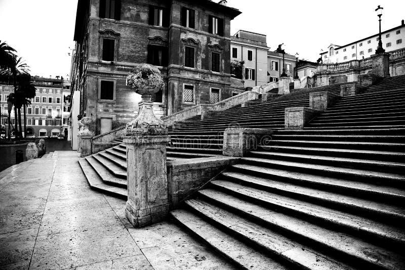 Cuadrado español con pasos españoles en Roma Italia imagen de archivo