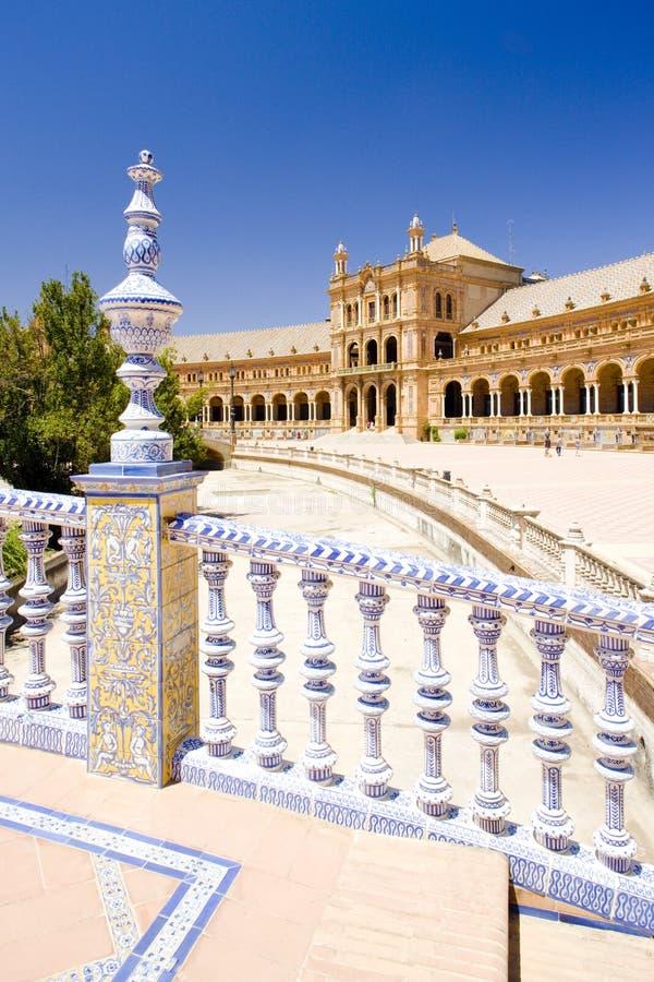 Cuadrado español y x28; Plaza de Espana& x29; , Sevilla, Andalucía, España imagenes de archivo