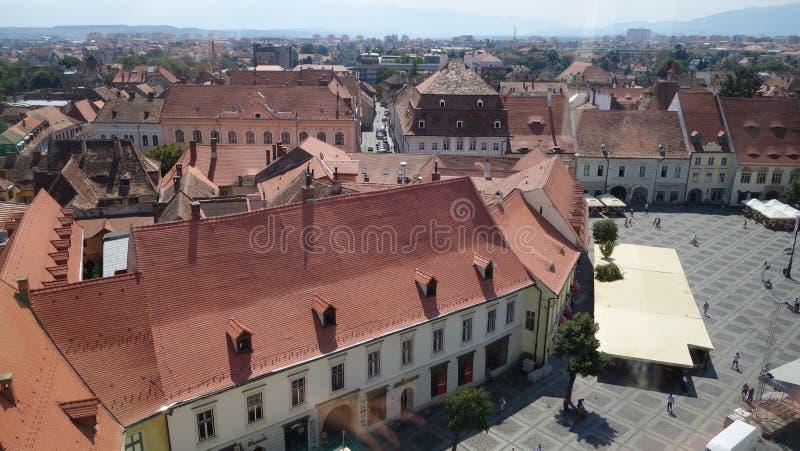 Cuadrado grande en Sibiu foto de archivo libre de regalías